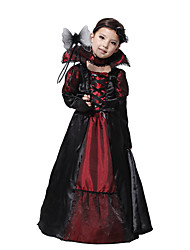 Children Vampire Costumes Pretty Long Sleeves Princess Costume For Halloween Kids Band Carnival Party Stage Show Cosplay