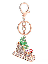 Key Chain Silver Red Metal