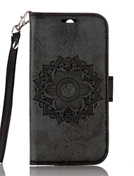 Full Body Mandala Embossed Leather Wallet for Motorola G4 G4 Plus