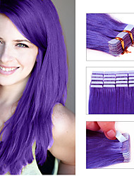 Tape in Hair Extension 20pcs/pack Skin Weft Hair Remy Brazilian Straight Human Hair Tape Hair Extensions As Pictures colors