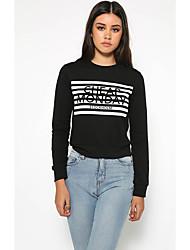 da eBay letras AliExpress impressa t-shirt camisola de mangas compridas