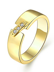 Engagement Rings UK Trendy 18K/Rose/White Gold Plated Inlaid Cubic Zirconia Rings Fashion Jewelry for Lovers