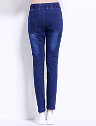 Sign autumn jeans loose pants collapse pants female feet was thin lace elastic waist harem casual trousers