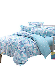 Mingjie Blue Bedding Sets 4PCS for Twin Full QueenSize from China Contian 1 Duvet Cover 1 Flatsheet 2 Pillowcases