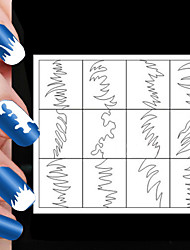 24PCS Different Sizes Professional Making Pattern Nail Art Tool #04