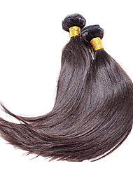 "1pcs/lot 12""-30""  Brazilian Virgin Hair Dark Brown Silky Straight Human Hair Extensions Hair Weaves"