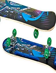 Wood Kid's Unisex Standard Skateboards Ruby Green Blue