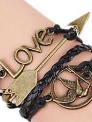 Women's Charm Bracelet Alloy Fashion Rock Love Jewelry 1pc