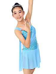 Ballet Dresses Women's / Children's Training Spandex / Sequined Ruffles / Sequins Sleeveless Natural