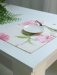 Rectangulaire Impression Sets de table , Coton mélangé Matériel Hôtel Dining Table / Tableau Dceoration