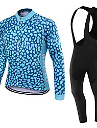 WOLFKEI Winter Thermal fleece Long Sleeve Cycling Jersey Long Bib Tights Ropa Ciclismo Cycling Clothing Suits #WK99
