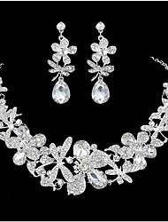 Schmuck 1 Halskette / 1 Paar Ohrringe Party 3 Stück Damen Weiß Hochzeitsgeschenke