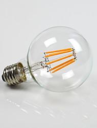 8W E26/E27 Lâmpada Redonda LED G80 8 COB 800 lm Branco Quente Regulável AC 220-240 AC 110-130 V 1 pç