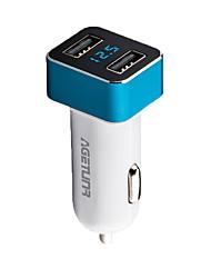 agetunr coche-cargador para USAMS 2 USB cargador de teléfono móvil del coche máx 2.1a adaptador Smart Auto Cargador de coche para iPhone