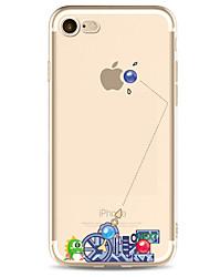 Pour iPhone X iPhone 8 iPhone 7 iPhone 7 Plus iPhone 6 Etuis coque Ultrafine Motif Coque Arrière Coque Punk Flexible PUT pour Apple