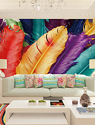JAMMORY 3D Wallpaper For Home Contemporary Wall Covering Canvas Material Large Color Feathers XL XXL XXXL