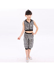 Jazz Outfits Children's Performance Cotton Sequins 2 Pieces Top Pants