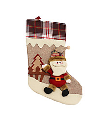 Christmas Toys / Gift Bags Holiday Supplies Santa Suits / Elk / Snowman Textile Dark Red / White / Yellow All