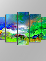 VISUAL STAR®Modern Abstract Picture Giclee Artwork 5 Panels Home Wall Decoration Framed Canvas Print Ready to Hang