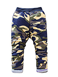 Boy's Cotton Fashion Cartoon Spring/Fall/Winter Going out/Casual/Daily Warm Children Heavy Padded Camouflage Pants