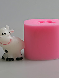 High Quanlity Cow Shaped Fondant Cake MoldCandy Resin Molds Soap MoldSilicone Mold For Candle