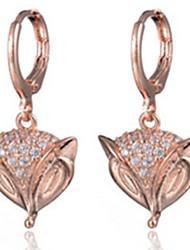 Boucles d'Oreille Zircon Simple Style Mode Bijoux Soirée 1 paire