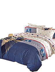 Mingjie 100% Cotton Blue Bedding Sets 4PCS for Twin Full QueenSize from China Contian 1 Duvet Cover 1 Flatsheet 2 Pillowcases