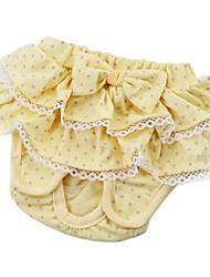 Gatos Perros Pantalones Ropa para Perro Invierno Verano Primavera/Otoño Princesa Adorable Amarillo Azul Rosa