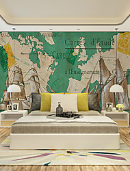 JAMMORY Art DecoWallpaper For Home Wall Covering Canvas Adhesive required Mural Navigation map XL XXL XXXL