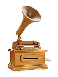 Wooden Music Box DIY Tape Victrola Music Box