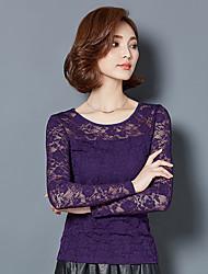 * Hitz дикий шею кружева рубашки блузка женщин
