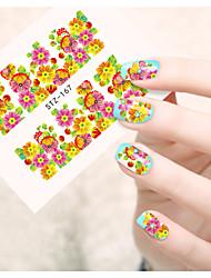 1pcs  Water Transfer Nail Art Stickers  Abstract Image Beautiful  Flower Nail Art Design STZ166-170
