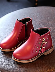 Boys' Boots Fall Winter Comfort Leatherette Casual Flat Heel