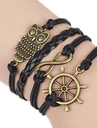Bracelet Bangles Alloy Owl Handmade Birthday / Daily Jewelry Gift Black,1pc