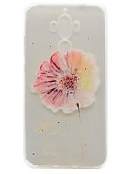 Pour Ultrafine / Transparente / Motif Coque Coque Arrière Coque Fleur Flexible TPU pour HuaweiHuawei P9 / Huawei P9 Lite / Huawei P9 plus