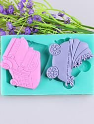 chariots de voitures et de bébé gâteau fondant moules en silicone de chocolat, des outils de décoration ustensiles de cuisson