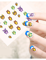 1pcs  Water Transfer Nail Art Stickers  Lovely Cartoon Mickey Sexy Lace Music Note Nail Art Design STZ66-72