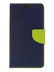 Pour Portefeuille Porte Carte Avec Support Clapet Coque Coque Intégrale Coque Couleur Pleine Dur Cuir PU pour SonySony Xperia X Sony