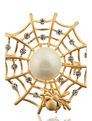 Fashion Woman Alloy Spider Web Brooch