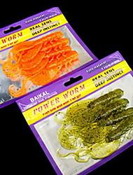 "6 pcs Soft Bait / Fishing Lures Soft Bait Assorted Colors 3.9 g/1/8 oz. Ounce mm/4"" inch,Soft Plastic / Hard Plastic / PEBait Casting /"