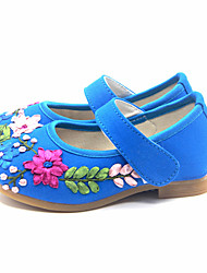 Flats Spring Fall Mary Jane Light Up Shoes Fabric Casual Flat Heel Blue Red Fuchsia