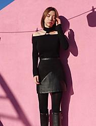 korean géant chic de daim couture jupes jupe en cuir sensiblement mince tutu femmes