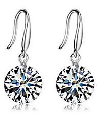 Stud Earrings Jewelry Women Party Sterling Silver 1 pair Green