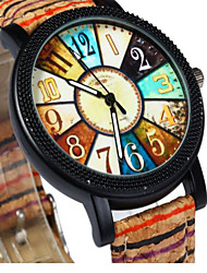 Men's Wrist watch Quartz Leather Band Brown Brand