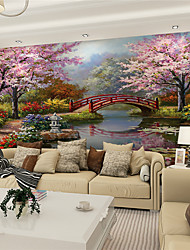 JAMMORY 3D Wallpaper For Home Contemporary Wall Covering Canvas Material Painting Bridges and Water XL XXL XXXL
