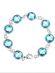 Kalen Fashion Jewelry Stainless Steel Chain Bracelet Colorful Glass Stone Beads Bracelets For Kids Girls Women For Small Wrists