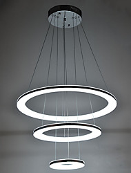 Pendant Light Modern Design LED Living Three Rings 204060CM 36W CE FCC ROHS