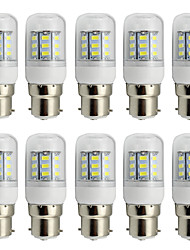 4W Clear Cover B22 LED Corn Bulb 220V/110V AC or 12V/24V AC/DC 27 SMD 5730 280Lm  Warm / Cool White (10 Pieces)