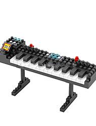 Blocos de Construir para presente Blocos de Construir Modelo e Blocos de Construção Piano ABS 8 a 13 Anos Preta Brinquedos