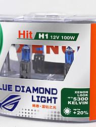 xencn h1 12v 100w 5300K ксенон голубой бриллиант свет фар автомобиля УФ-фильтр для галогенных ламп белого фары